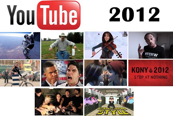 Los 10 videos más vistos de Youtube en 2012
