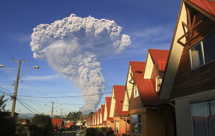 First day eruption Calbuco volcano