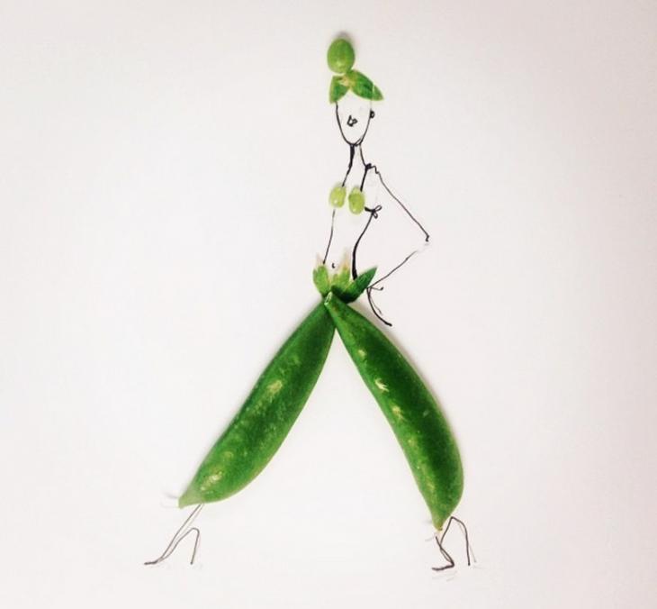 Dress Design Sketches Fruit