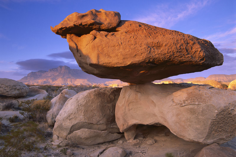 El Capitan and Balanced Rock, Guadalupe Mountains National Park, Texas