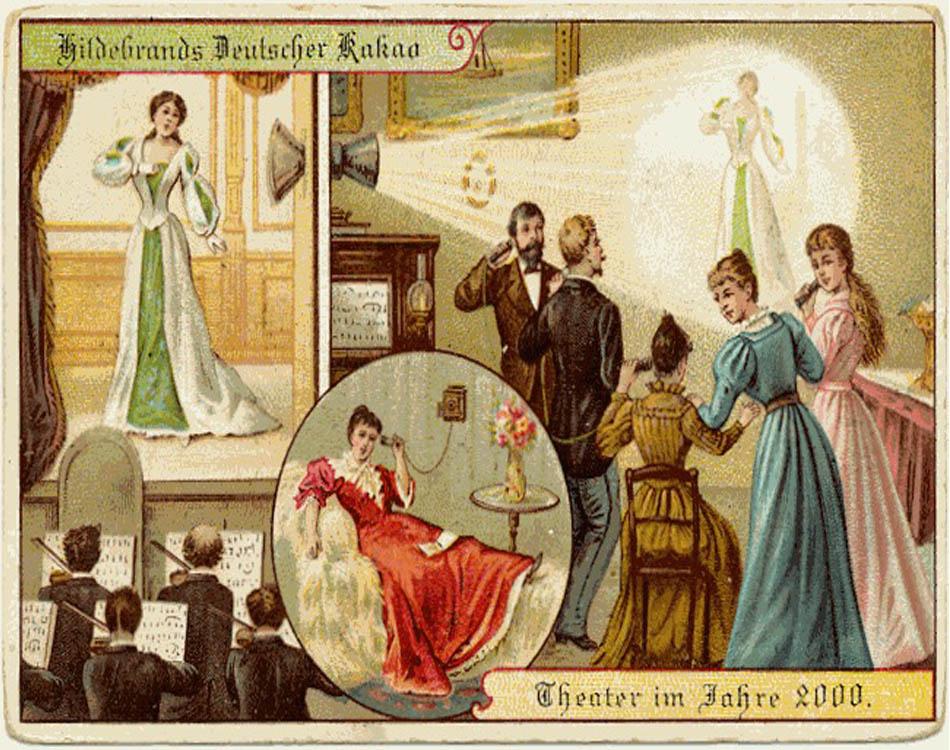 En 1900 así se imaginaban el futuro