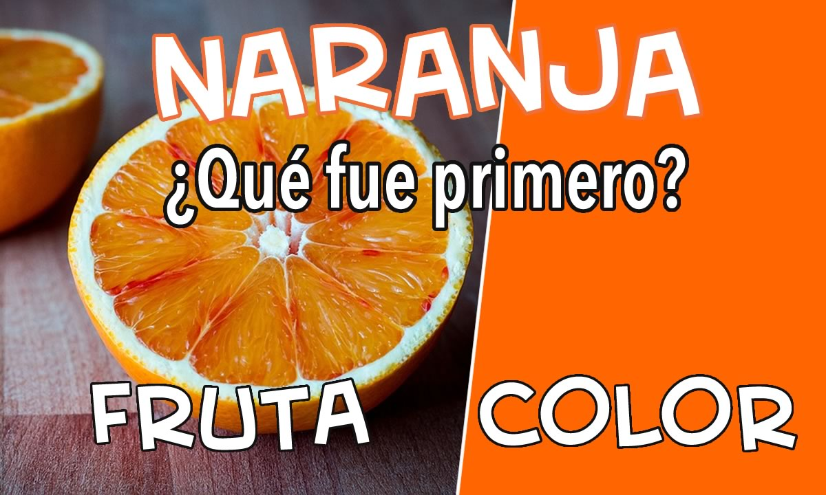 naranja color o fruta
